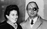 File: General Moshe Dayan, chief of staff of the Israeli Army, is pictured with his wife, Ruth in London, Jan. 13, 1958 (AP Photo)