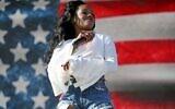 Azealia Banks performs at the 2015 Coachella Music and Arts Festival on April 10, 2015, in Indio, California. (Rich Fury/Invision/AP)