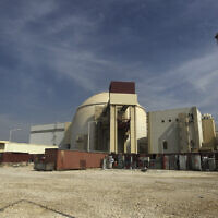 This October 26, 2010, photo shows the reactor building of the Bushehr nuclear power plant just outside the southern city of Bushehr, Iran. (AP Photo/Mehr News Agency, Majid Asgaripour)