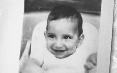 Stephen Mark Erle (later David Rosenberg) at age six months in 1962. His birth mother Margaret Erle was coerced into signing away her parental rights. This photo was taken during the first of just two meetings Margaret and the baby's father birth father George Katz were allowed with him while in foster care prior to his adoption. (Courtesy of Margaret Erle Katz)
