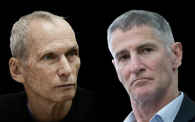 A photo composite showing Omer Barlev, left, and Yair Golan. (Flash90)
