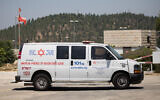 An illustrative file photo of an ambulance on August 23, 2019 (Yonatan Sindel/Flash90)