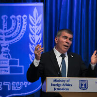 Foreign Minister Gabi Ashkenazi, in Jerusalem on June 10, 2020. (Olivier Fitoussi/Flash90)