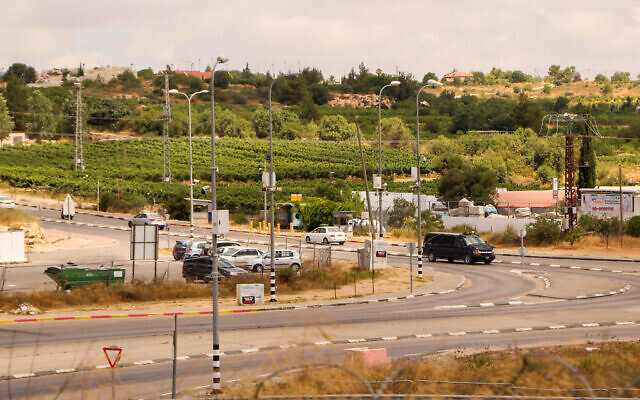 The Gush Etzion Junction in the West Bank, July 9, 2020. (Gershon Elinson/Flash90)