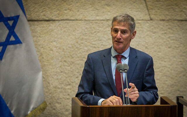 Meretz MK Yair Golan speaks during a plenary session in the Knesset, Jerusalem on August 24, 2020. (Oren Ben Hakoon/POOL)