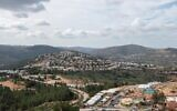 View of the Jewish settlement of Eli, in the West Bank, on January 17, 2021. (Sraya Diamant/Flash90)