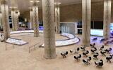 The empty arrival hall at the Ben Gurion International Airport near Tel Aviv on February 3, 2021. (Tomer Neuberg/Flash90)