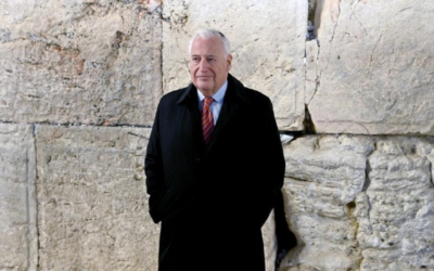 US Ambassador to Israel David Friedman at the Western Wall on the final day of his tenure, January 20, 2021 (Courtesy)