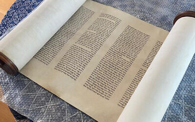 The lost Torah scroll of Dordrecht, the Netherlands, was kept in good condition by a family. (Courtesy/NIG via JTA)