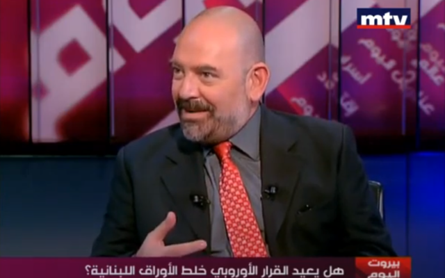 Lokman Slim in an interview with MTV Lebanon News on July 27, 2013. (Screenshot: YouTube)