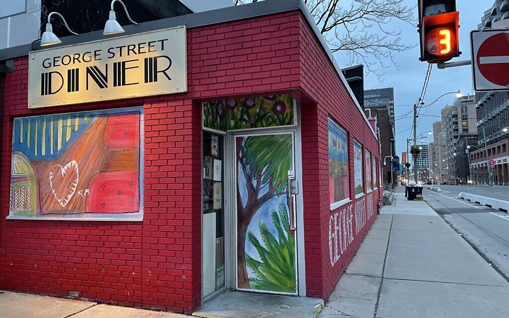 The George Street Diner in downtown Toronto where a scene takes place in Robert Rotenberg's book, January 2021. (Photo by Robert Rotenberg)