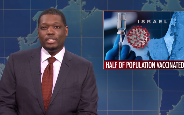 Saturday Night Live Weekend Update co-host Michael Che on February 20, 2021. (Screen capture/YouTube)