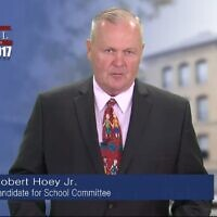 Lowell School Committee member Bob Hoey (Screenshot from YouTube via JTA)