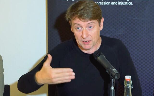 University of Bristol lecturer David Miller. (YouTube screenshot)