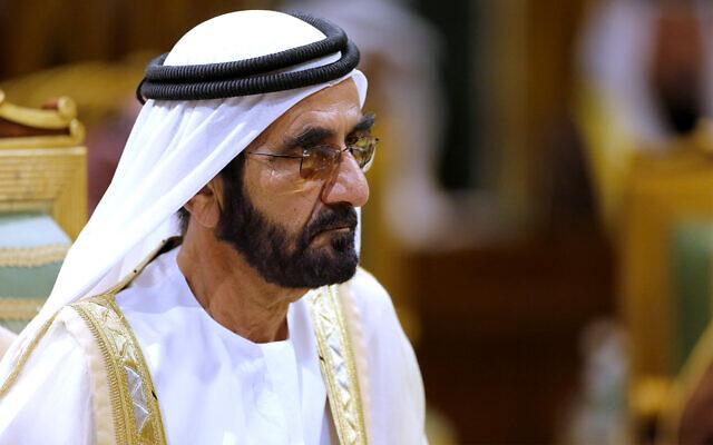 Prime Minister of the United Arab Emirates Sheikh Sheikh Mohammed bin Rashid Al Maktoum attends the 40th Gulf Cooperation Council Summit in Riyadh, Saudi Arabia, Dec. 10, 2019. (AP Photo/Amr Nabil, FILE)