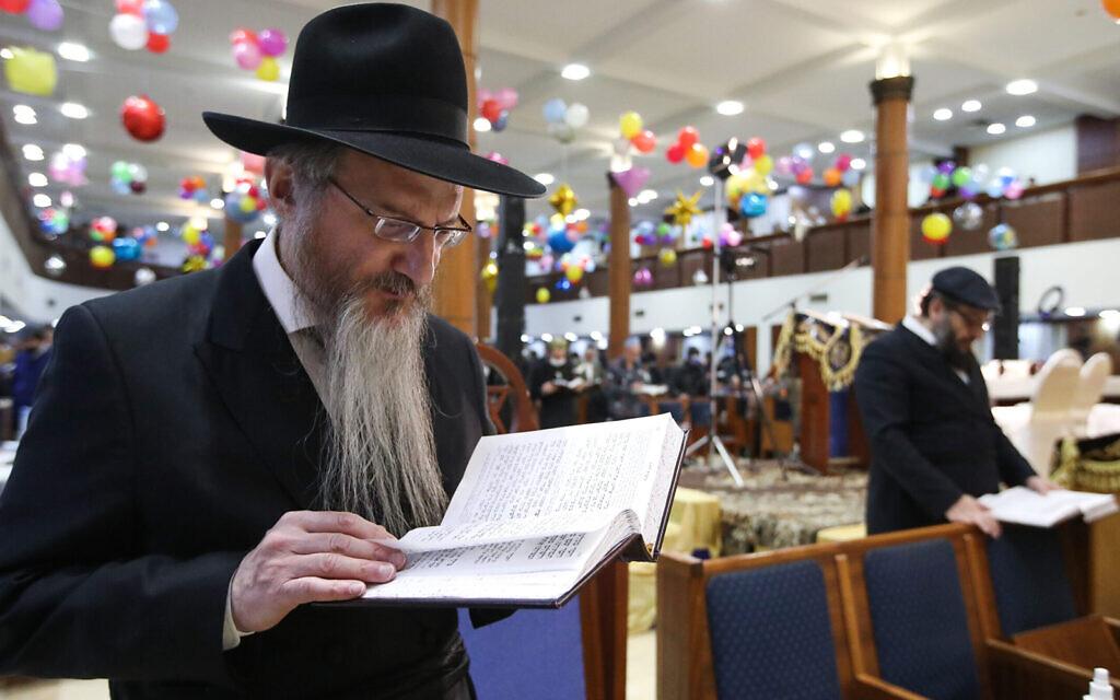 Purim in Moscow, Russia. (Sergei Karpukhin/TASS via Getty Images, JTA)