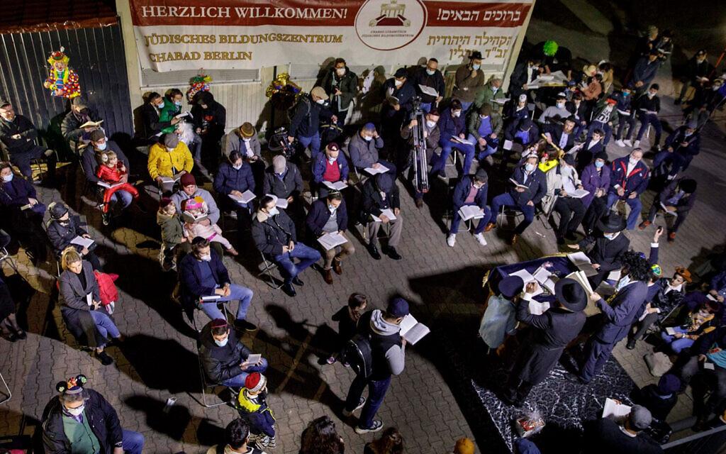 Purim in Berlin. (Carsten Koall/Getty Images via JTA)