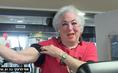 81-year-old Effie Hertzke, in an interview with Channel 12 news, February 21, 2021. (Screenshot/Facebook)