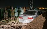 A car used in a failed shooting-ramming attack on Israeli troops on January 9, 2021. (Israel Defense Forces)