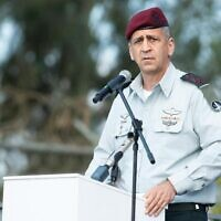 IDF Chief of Staff Aviv Kohavi speaks at a ceremony on February 28, 2021. (Israel Defense Forces)