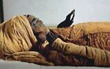 The mummified remains of Egyptian pharaoh Seqenenre Tao II (Courtesy)