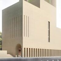 A illustration of the planned House of One in Berlin, bringing together a synagogue, mosque and church (Courtesy)