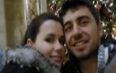 Kylie Moore-Gilbert and her husband Ruslan Hodorov. (Screenshot: Twitter)