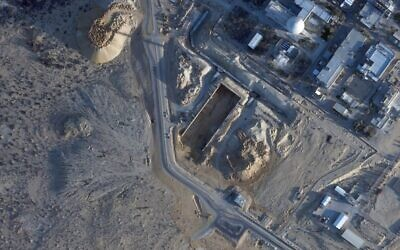 This Monday, Feb. 22, 2021 satellite photo from Planet Labs Inc. shows construction at the Shimon Peres Negev Nuclear Research Center near Dimona, Israel. A long-secretive Israeli nuclear facility that gave birth to its undeclared atomic weapons program is undergoing what appears to be its biggest construction project in decades, according to satellite photos analyzed by The Associated Press. (Planet Labs Inc. via AP)