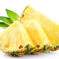 Illustrative image of pineapple slices with leaves (Tim UR; iStock by Getty Images)