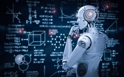 Illustrative image: a robot surveys mathematical calculations (PhonlamaiPhoto via iStock by Getty Images)