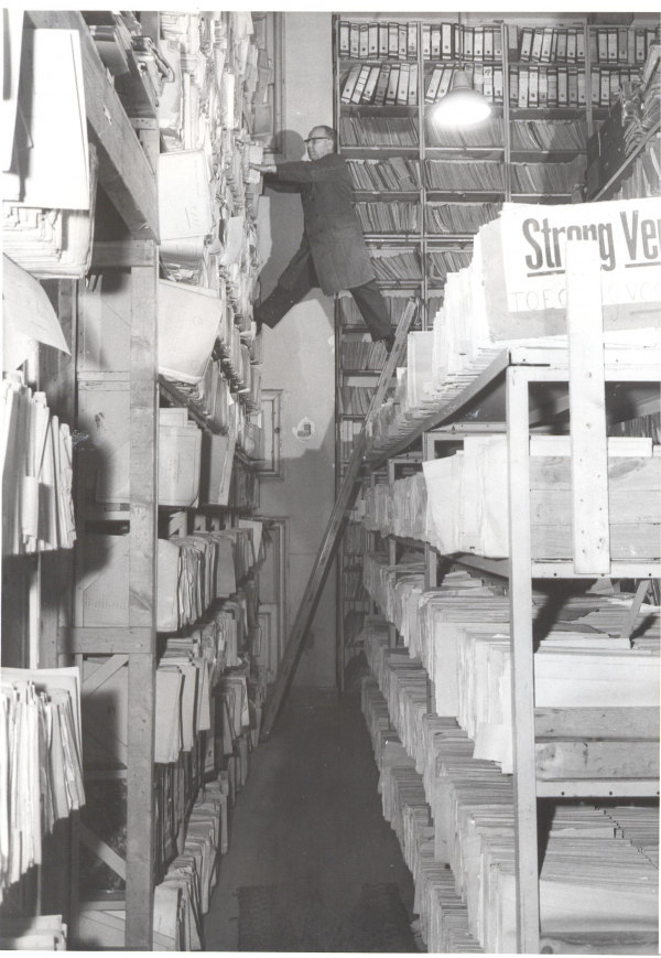 Dutch National Archives, where wartime files make up four kilometers of documents (courtesy)
