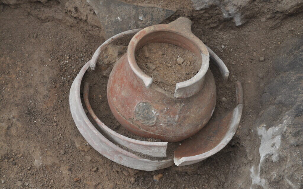Pottery found at what is likely the biblical city of Ziklag. (Courtesy of Ziklag Excavation Expedition)
