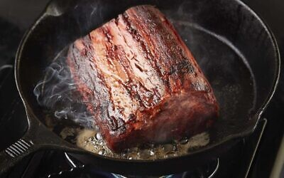 An illustration of the 3D printed whole muscle cut of beef by Redefine Meat (Courtesy)