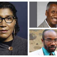 Clockwise from left: Social activist and Black History Month panelist Ginna Green; Times of Israel blogger and Black History Month panelist Ed Gaskin; and Rabbi Shais Rishon, also known as MaNishtana. (All photos courtesy)