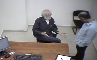 The late Shaya Segal speaks to investigators in an undated interview, in footage released February 25, 2021. (Screenshot: Channel 13)