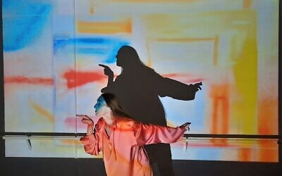 Dancer and choreographer Rina Schenfeld from her new work, 'The Diary, Part 2,' to be performed at her Tel Aviv studio on March 11 and 12, 2021 (Courtesy Dovrat Asulin)