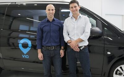 Daniel Ramot, left, and Oren Shoval, the co-founders of ridesharing firm Via Transportation Inc (Courtesy)