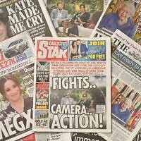 An arrangement of UK daily newspapers photographed as an illustration in Brighton on March 8, 2021, shows front page headlines reporting on the story of the interview given by Meghan, Duchess of Sussex, wife of Britain's Prince Harry, Duke of Sussex, to Oprah Winfrey, which aired on US broadcaster CBS (Glyn KIRK / AFP)
