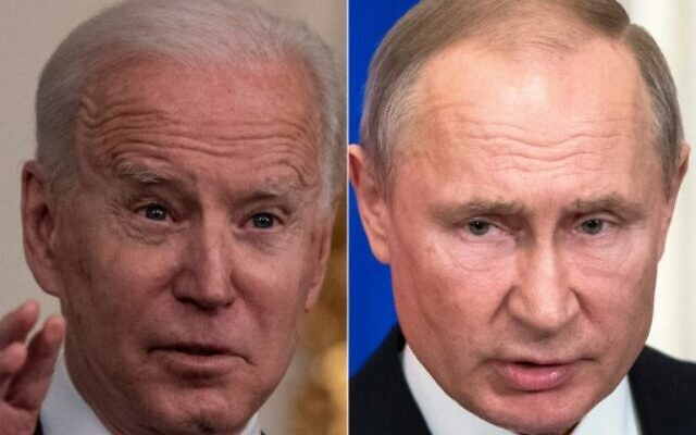 US President Joe Biden (L) on March 15, 2021, and Russian President Vladimir Putin on March 5, 2020 (Eric BARADAT and Pavel Golovkin / various sources / AFP)