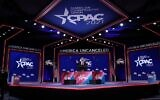 Former US president Donald Trump addresses the Conservative Political Action Conference (CPAC) held in the Hyatt Regency on February 28, 2021, in Orlando, Florida. (Joe Raedle/Getty Images/AFP)