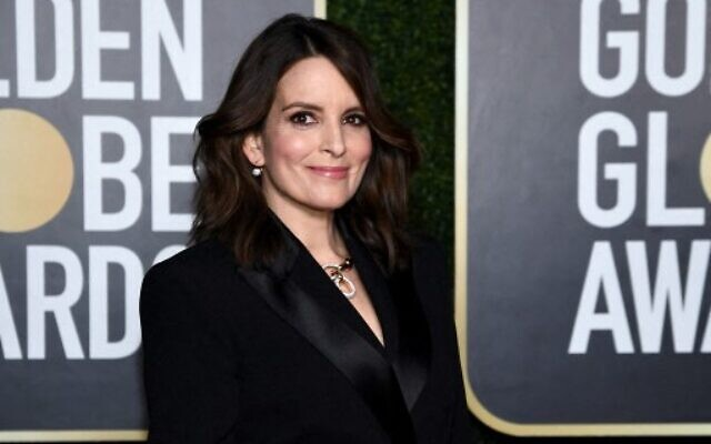 FEBRUARY 28: Tina Fey attends the 78th Annual Golden Globe® Awards at The Rainbow Room on February 28, 2021 in New York City.  (Photo by Dimitrios Kambouris /  Getty Images via AFP)