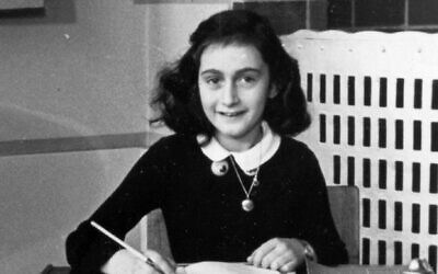 Anne Frank (Wikimedia Commons via JTA)