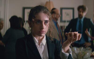 Rachel Sennott as Danielle in 'Shiva Baby,' by filmmaker Emma Seligman. (Courtesy)