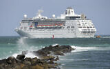 In this June 20, 2016 file photo, the Royal Caribbean cruise ship Empress of the Seas heads out of Miami Beach, Fla.   (AP Photo/Lynne Sladky, File)