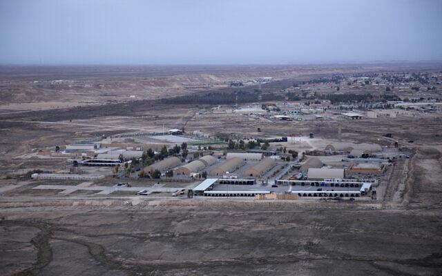 Ain al-Asad air base in the western Anbar desert, Iraq, December 29, 2019. (AP Photo/Nasser Nasser, File)