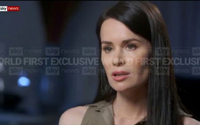 In this image made from video, Kylie Moore Gilbert, British-Australian academic detained in Iran, speaks during an interview with broadcaster Sky News Australia, on March 9, 2021. (Sky News Australia via AP)