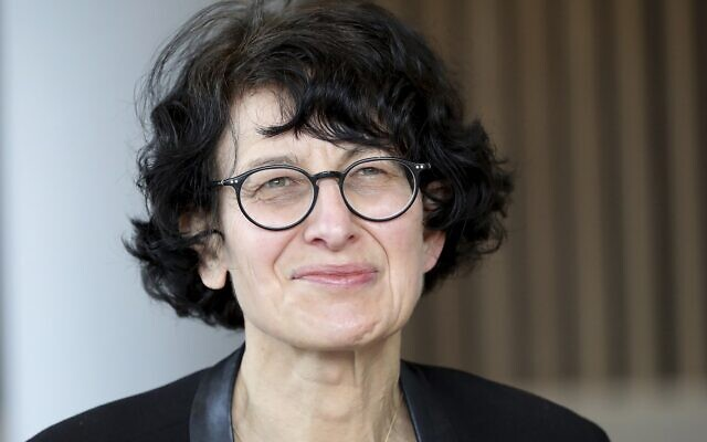 Ozlem Tureci, founder of BioNTech, speaks during an interview in Berlin, Germany, Thursday, March 18, 2021. (AP Photo/Michael Sohn)