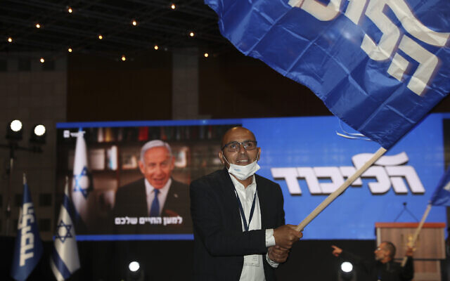 Netanyahu claims giant victory; updated polls show majority slipping from reach