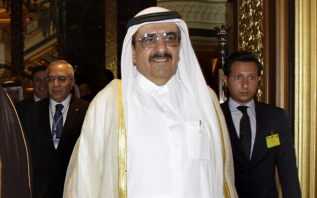 In this Sept. 7, 2011, file photo, Sheikh Hamdan bin Rashid Al Maktoum, deputy ruler of Dubai and United Arab Emirates minister of finance attends the opening of Arab Finance Ministers Exceptional meeting in Abu Dhabi, United Arab Emirates. (AP Photo/Kamran Jebreili, File)
