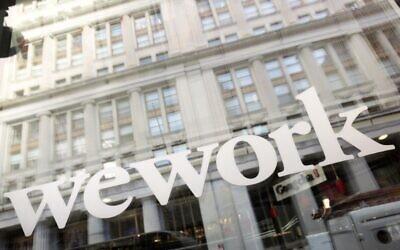 WeWork offices are shown, Thursday, Jan. 16, 2020 in New York. (AP Photo/Mark Lennihan)